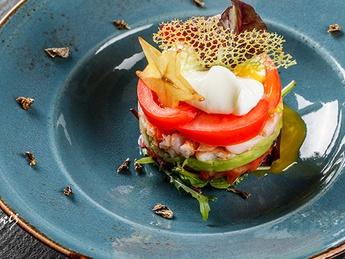 Layered shrimp salad