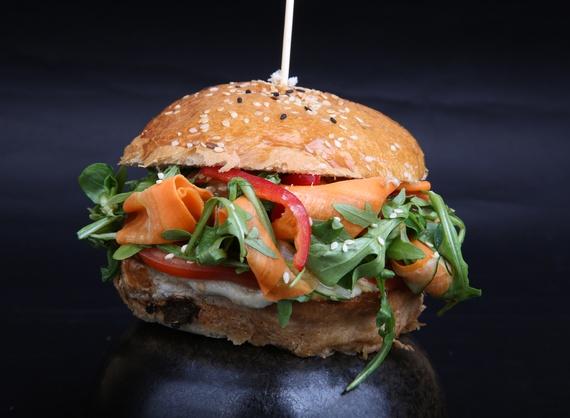 Eggplant vegetarian burger