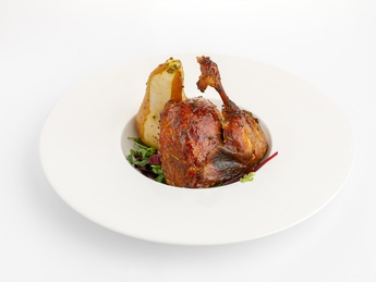 Duck Confit with currant sauce