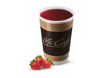 Hot drink with strawberries