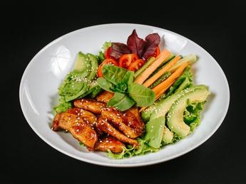 Salad with Teriyaki chiken