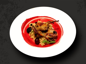 Quail with couscous