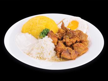 Pork stew with Mamaliga