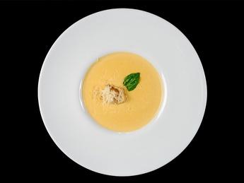 Cheese puree soup
