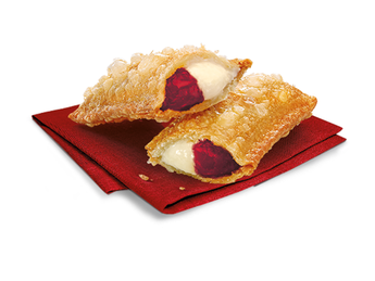 Pie with cherry and cheese cream