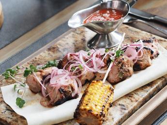 Pork neck kebab