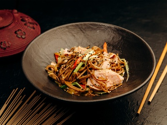 Soba with duck