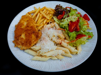 Chicken chop with French fries