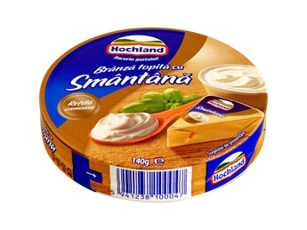 HOCHLAND Melted cream triangle sour cream 140g