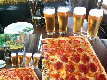 Amici pizza with 2L Timisoreana beer