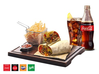 Wrap New York Beef + French fries + Drink