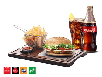 Melbourne Classic Burger + French fries + Drink