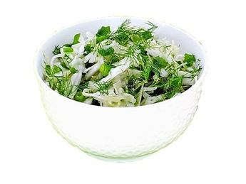 Fresh Cabbage Salad with Herbs
