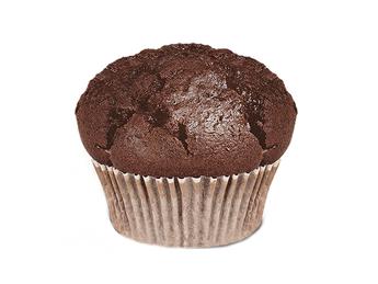Cupcake with chocolate