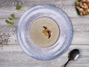 Supă cremă de ciuperci cu pesmeți