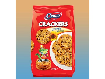 CROCO Crackers with sunflower seeds 150g