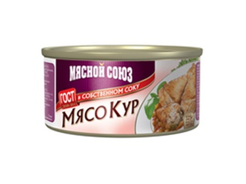 MIASNOI SOIUZ Canned chicken in its own juice 325g