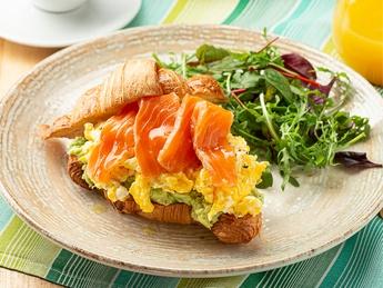 "Breakfast ""iL Forno""with salmon"
