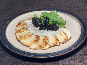 Chicken breast with truffle sauce