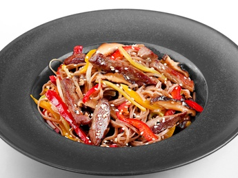 Soba with beef