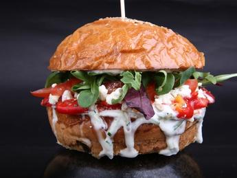Balcanic vegetarian burger