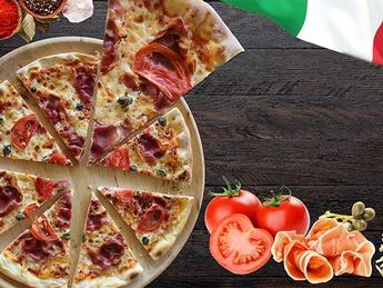 Pizza cu prosciutto și capere