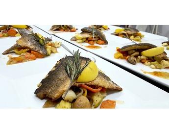 Dorada, Seabass fillet with vegetables