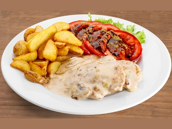 Chicken fillet in french sauce
