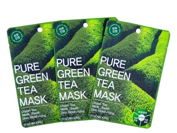 Pure Green Tea Mask Pack  Tosowoong  [Dual-functional in Whitening and Anti-Wrinkle]