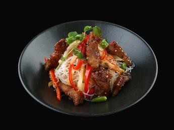 Funchoza with pork