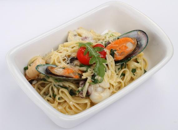Лингвини с морепродуктами