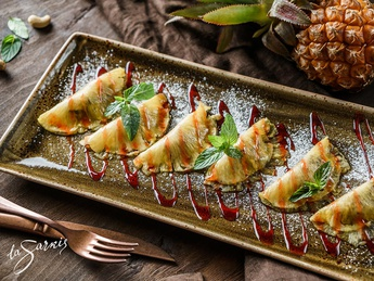 Pineapple ravioli