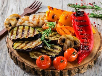 Vegetables on a grill (1 serving)