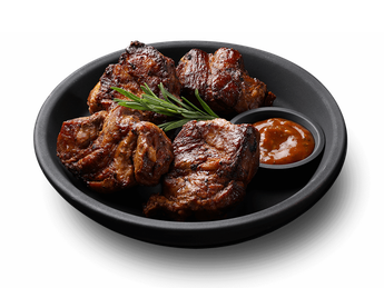 Pork barbeque (neck) with tomato sauce (1 serving)