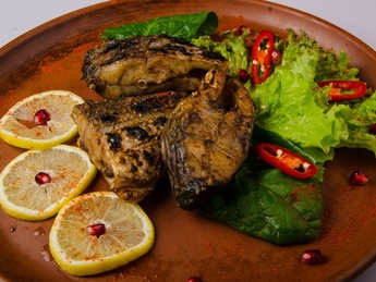 Grilled carp  (weight product)