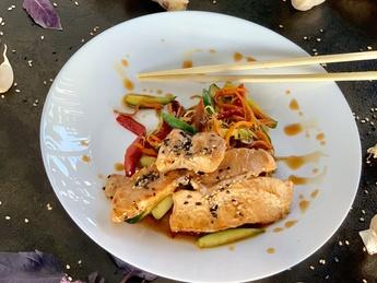 Warm salmon salad [53]