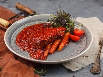 Steak de vită  cu porumb în sos Cilli