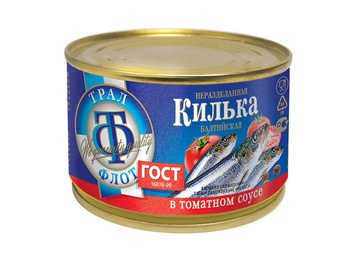 TRAL FLOT Baltic sprat in tomato sauce 240g
