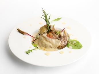Rabbit stewed in white wine