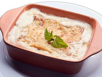 Lasagna with chicken & mushrooms