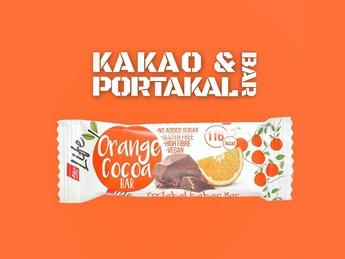 Batonas din portocala și cacao Vegan