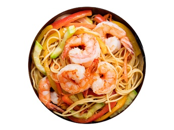 Yakisoba with shrimps